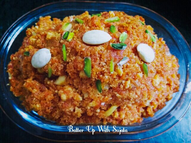 Paneer Gajar Halwa Or Cottage Cheese Carrot Pudding