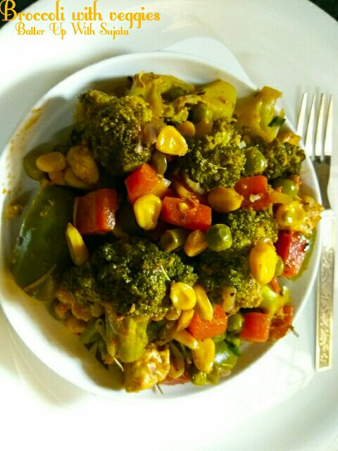 Broccoli With Cottage Cheese And Mixed Vegetables