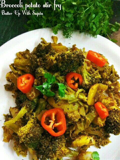 No Onion Garlic Broccoli Potato StirFry