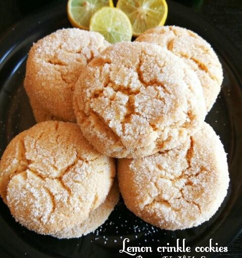 Gluten Free Oats Cornmeal Lemon CrinkleCookies