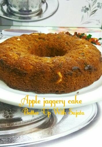 Gluten Free Apple Jaggery cake / VeganCake