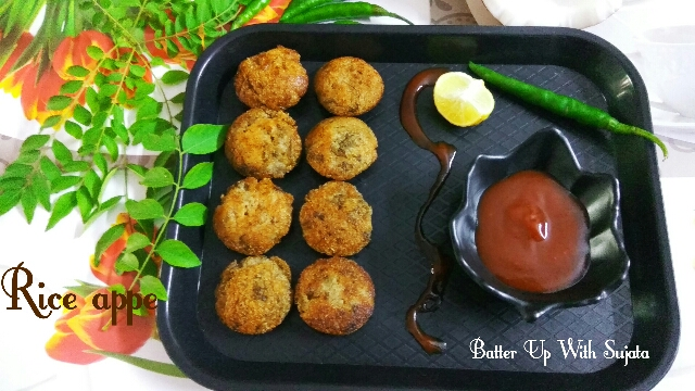 Rice Appe Or Paddu With Cooked Rice