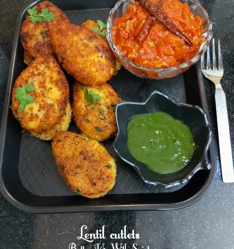 Moong And Masoor Dal Cutlets Or Yellow And Red LentilCutlets