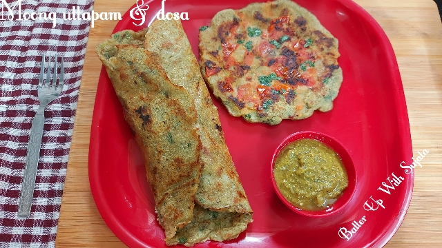 Green Moong Uttapam Or Dosa
