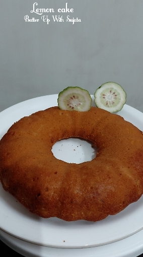 Lemon Cake With Gondhoraj Lebu Or Kaffir Lime
