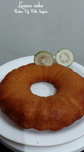Lemon Cake With Gondhoraj Lebu Or KaffirLime