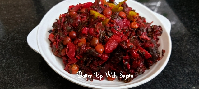Beetroot Greens With Beetroot And Potato