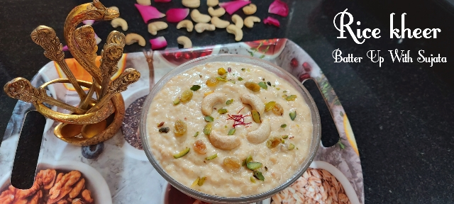 Rice Kheer Or Pudding