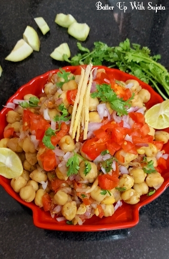 Chana Or Chickpea Chaat With Raw Mango