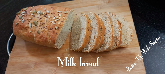 Whole Wheat Milk Bread With Mixed Seeds