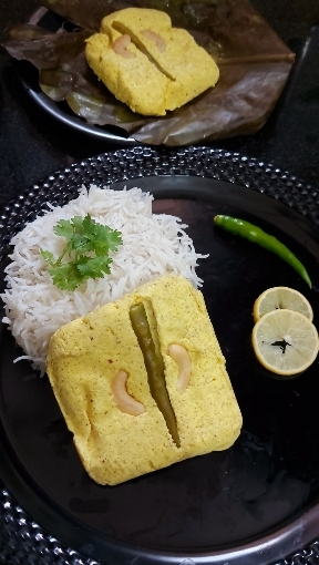 Chhanar Paturi Or Steamed CottageCheese/Paneer
