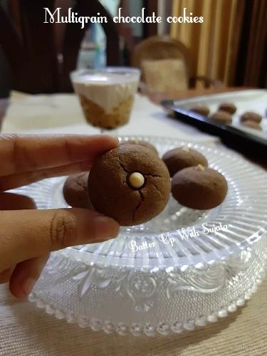 Multigrain Chocolate Cookies Or Shortbread Cookies/Nankhatai