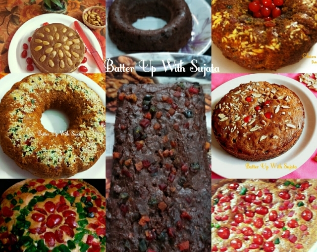 Collection Of Eggless Fruit Cake