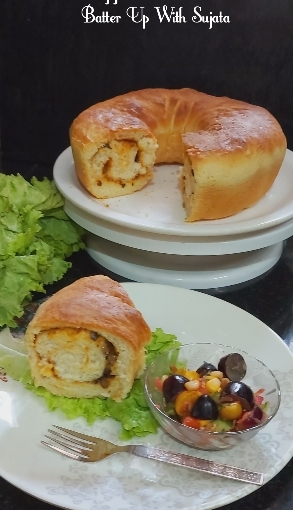 Casatiello/ Stuffed Savoury Bread
