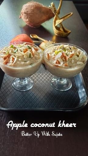 Apple Coconut Date Kheer OrPudding